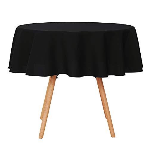 UMI. Essentials - Mantel Mesa Comedor Manteles para Restaurantes Comedor Cocina 160 cm Negro