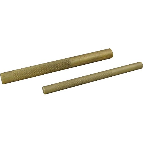 Gray Tools 2 Piece Brass Punch Set, Includes 1/2 Inch and 3/4 Inch Brass Drift Punches, Made in USA