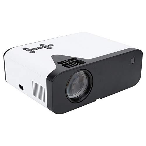 Mini proyector, proyector portátil 1080P Home Theater Cinema Beamer con Red a Prueba de Polvo, para Home Theatre, TV y Videojuegos, Eventos Deportivos(Enchufe de la UE)
