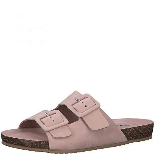 Tamaris Femme Mules, Dame Sabots,Pantoufle,Slides,Sandale,Chaussure d'été,Chaussure de Loisir,Rose UNI,38 EU / 5 UK