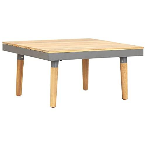 Tavolino da caffè, tavolino da caffè, tavolino da cocktail, tavolino da tè, tavolino da giardino, 60 x 60 x 31,5 cm, in legno di acacia massiccio