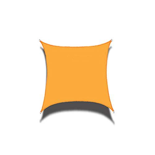 DIANPU Velas De Sombra para Patio, Cuadradas Impermeables Protección Solar Y Protección UV Velas De Sombra para Patio Exterior Y Jardín (3m*3m,Amarillo Mango)