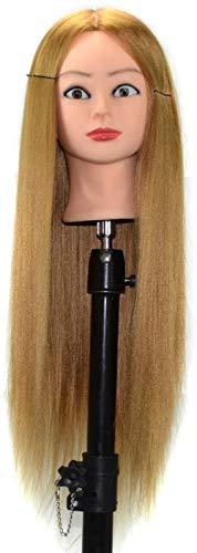 Mannequins de couture reglable Haute température Fil de Formation Head Coiffure Poupée Mannequin tête Maquillage Plate Pratique Cheveux Hat Porte vêtement Mannequin (Color : Goldenyellow)