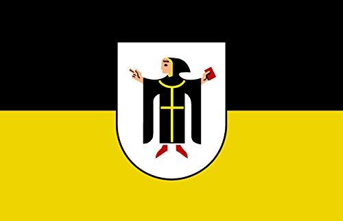 Etaia 5,4x8,4 cm Auto Aufkleber Fahne/Flagge von München mit Münchner Kindl Sticker Motorrad