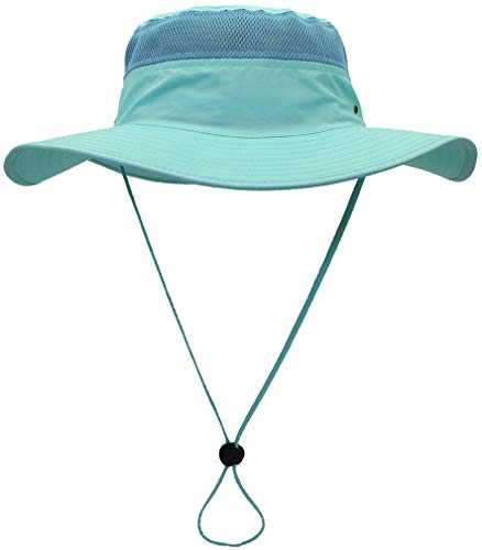 CAMO COLL Outdoor UPF 50+ Boonie Hat Summer Sun Caps (One Size, Aqua)