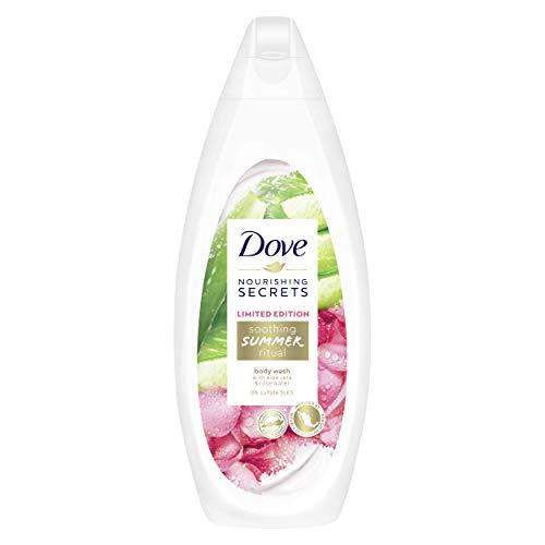 Dove - Gel de ducha refrescante para verano, edición limitada con aloe vera y agua de rosa, 250 ml