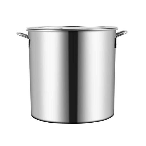 GH-YS Pentola Grande, pentola da Cucina in Acciaio Inossidabile Base a induzione con Coperchio in Acciaio Inossidabile, Due opzioni di Dimensioni (Dimensioni: 45 * 46 cm (72L))
