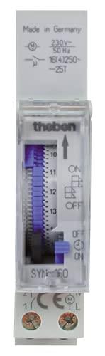 Theben Syn 160 E - Interruptor horario analógico - 1 Canal - Programa Diario - Carril DIN