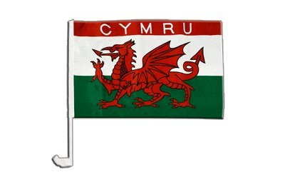 Drapeau de voiture Pays de Galles CYMRU - 30 x 40 cm