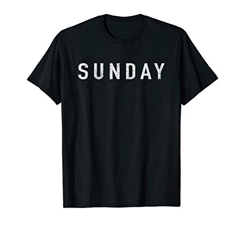 DAYS of the WEEK tshirt series 'SUNDAY' distressed