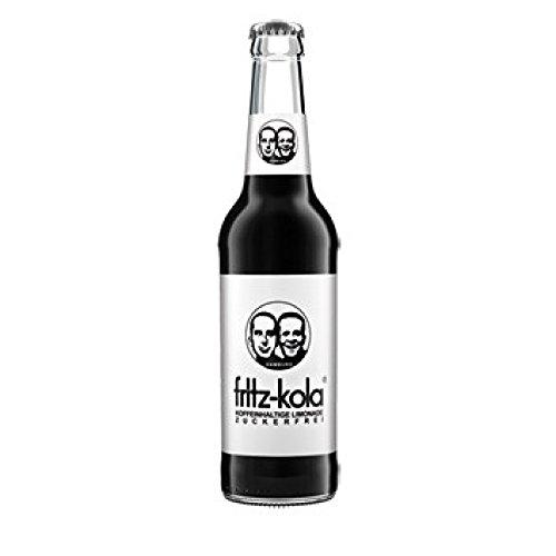 12 Flaschen a 0,33L Fritz Kola zuckerfrei (Cola) inc. 0,96€ MEHRWEG Pfand