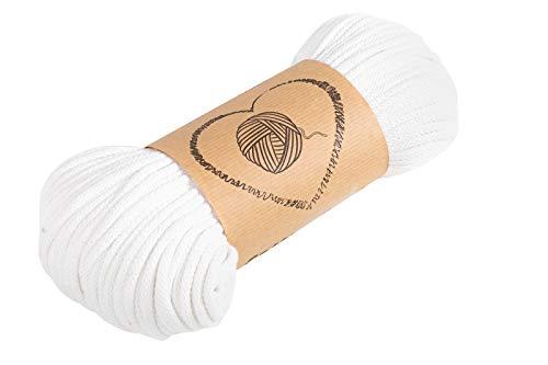 hilo macrame cuerda algodon - hilos para macrame 5 mm blanco