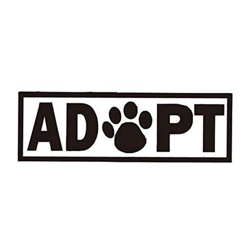 Hund Katze Footprint Wandaufkleber Lustiges Wort Tier Kunst Wandtattoos für Kinderzimmer Schlafzimmer Wohnzimmer Wohnkultur 2 stücke