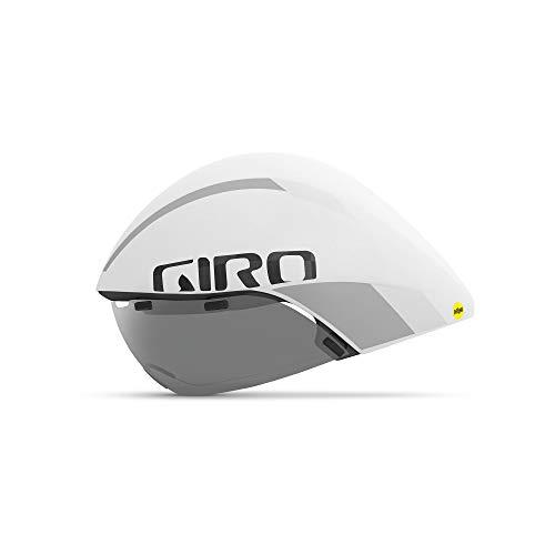 Giro Aerohead Ultimate MIPS - Casco de Triple Ajuste, Unisex, Color Blanco Mate, Tamaño Medium/55-59 cm
