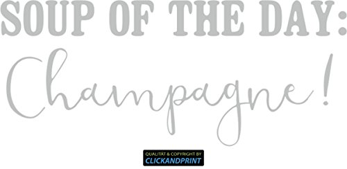 CLICKANDPRINT Aufkleber » Soup of The Day - Champagne!, 240x101,3cm, Carbon Oracal Silbergrau • Dekoaufkleber/Autoaufkleber/Sticker/Decal/Vinyl