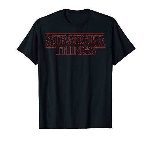 Netflix Stranger Things Outline Logo Camiseta