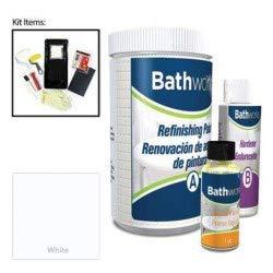 Bathworks DIY Bathtub & Tile Refinishing Kit (WHITE); 20 oz; Tub; Tile; Wall Surround; Sink; Quick 24 hour dry time; High Gloss Resin Finish