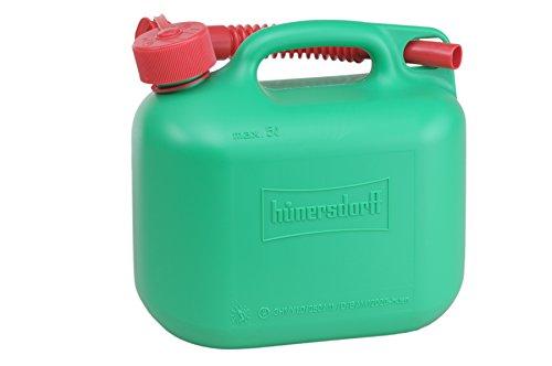 Kraftstoff-Kanister STANDARD 5l für Benzin, Diesel und andere Gefahrgüter, UN-Zulassung, made in Germany, TÜV-geprüfter Produktion, grün
