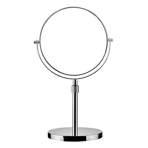 ACMEDE Standspiegel Höhenverstellbar 3 Fach Vergrößerung, 6,7,8 inch Schminkspiegel Kosmetikspiegel, Verchromten Rasierspiegel Tischspiegel Badzimmerspiegel, Doppelseitig: Normal+ 3X Zoom