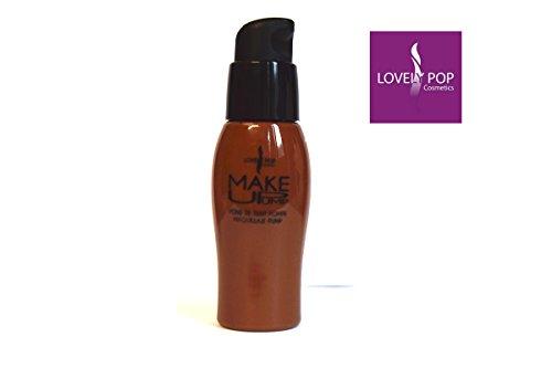 Base maquillaje pieles oscurascon dosificador–N°12ámbar–Lovely