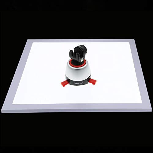 PULUZ Photo Studio 34,7 cm 1200 LM LED Fotografía sin sombra Panel de luz con interruptor enchufe británico, material acrílico luz inferior y luz polar regulable para luz de relleno