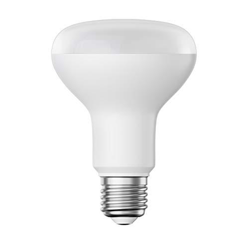 ledscom.de E27 R80 LED Reflektor-Lampe 9,5W =63W 850lm warm-weiß A+ für innen und außen