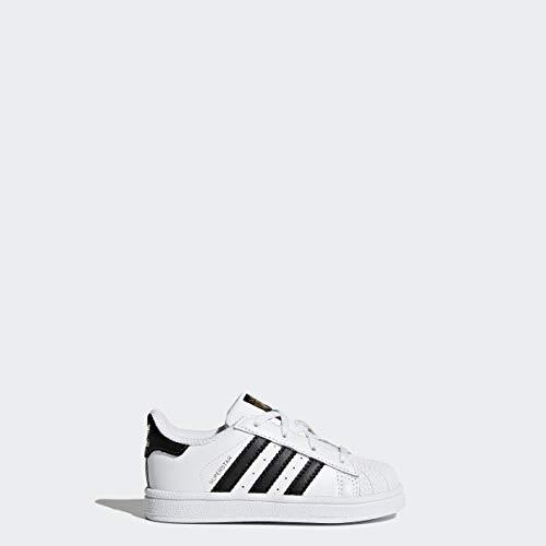 Price comparison product image adidas Originals Kids' Superstars Running Shoe,  White / Black,  4 M US