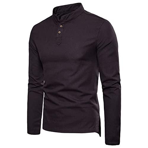 Shirt Herren Langarm V Ausschnitt...