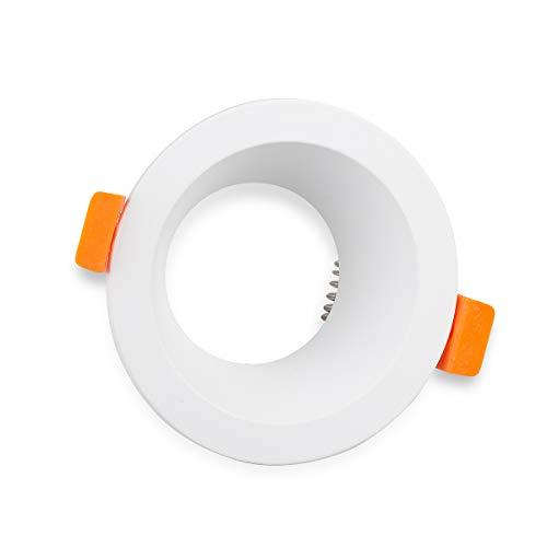 Mextronic Deckeneinbaurahmen-GU10: Alu Ø 70mm 7003 (Weiß)