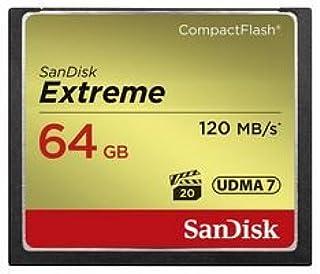 SanDisk SDCFXSB-064G-G46 - Tarjeta de Memoria de 64 GB (Velocidad de Lectura de 120 MB/s Velocidad de Escritura de 85 MB/s UDMA 7)