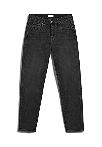 ARMEDANGELS CAJAA - Damen Jeans aus Bio-Baumwolle 27 Washed Down Black Denims / 5 Pockets Tapered Relaxed Fit
