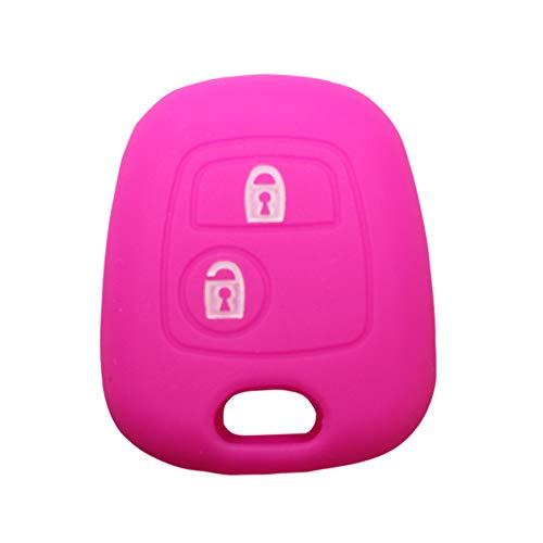 YLC Proteggi Chiave per Auto in Silicone Car Key Cover Skin Jacket per Peugeot /& Citroen Chiave 2 Pulsante Blu Navy
