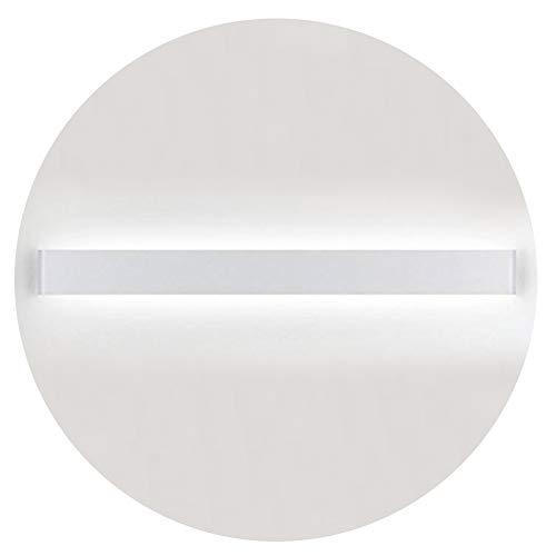 K-Bright 30W Lampada da Parete,IP 44 LED Applique da Parete con Stile Moderno Interni Lampada a Muro,4000K-45000K bianco naturale,32 pollici,2400 lumen,su giù il raggio di luce,bianca Alluminio