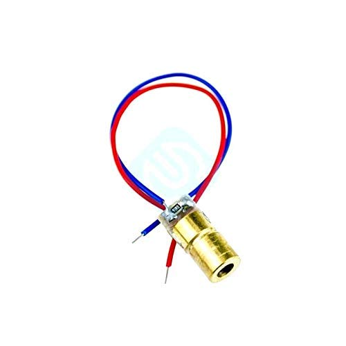ZTSHBK 5 uds 5V 650nm 605 NM 5mW láser módulo de Punto Rojo Vista láser Rojo diodo láser Rojo Puntero láser nuevos Kits de Bricolaje