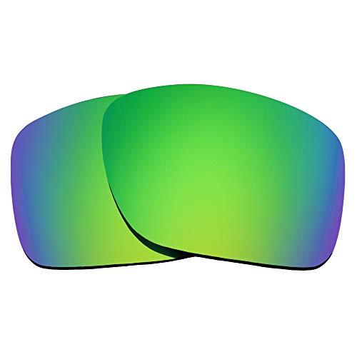 SEEK Ersatzgläser Kompatibel mit OAKLEY TURBINE Polarisiert Grün Spiegel