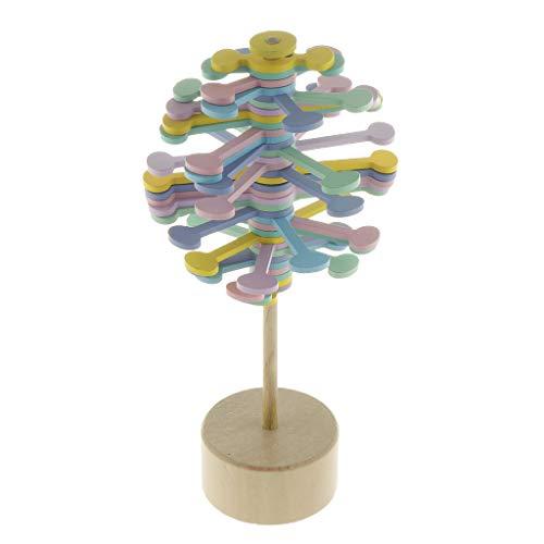Holz Antistress Spielzeug Magic Spielzeug Tischspiele Brettspiele mit Drehen Lollipop Design - Macaron-Farbe