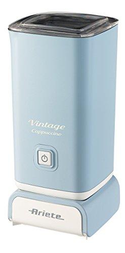 Ariete 2878 Cappuccinatore Vintage - Montalatte per cappuccino, tè, cioccolata calda e fredda, infusi liofilizzati, 500 watt, in colore Celeste pastello
