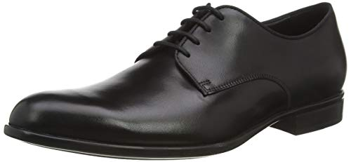 GEOX U IACOPO C BLACK Men's Derbys, Oxfords and Monk Shoes Derby size 43(EU)