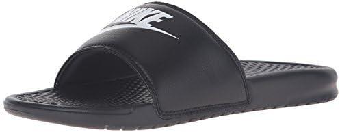 Nike Mens Benassi JDI Lightweight Slides Beach Holiday Sandals Summer - Black/White