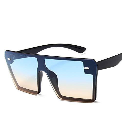 Gafas De Sol De Mujer,Thin Flat Suqare Big Sunglasses Women Luxury Retro Vintage Sun Glasses Mujer Kim Kardashian Sunglasses Gafas De Sol para Deportes Al Aire Libre, Conducción, Playa, Citas, Fiesta