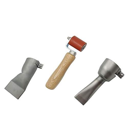 SANKUAI 1 satt 20mm Flache Schweißdüsen + 40mm Flache Düsen + Silikondruckwalze für Handheld-Heißluft-Schweißer