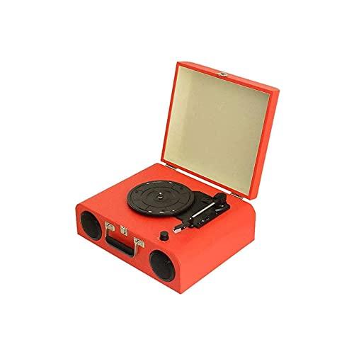 KSDCDF Record Player, Vinyl Turntable Records Player Bluetooth 5.0, integratori Stereo incorporati, 3 velocità, Stilo Extra, Supporti RCA. Linea, AUX. in, Lettore Record della Valigia Portatile