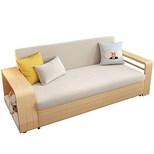 HMBB Sofá Cama sofá Convertible sofá Cama Moderno futón sofás Conjuntos Pliegue Arriba y Abajo Tela de Lino sillón reclinable for Sala de Estar/Sala de recepción (Beige)