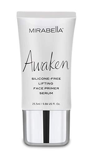 Mirabella Awaken Lightweight Lifting Face Primer - Silicone-Free Flawless Base for Foundation and Makeup, 25.5ml/0.86 fl.oz. (Face Primer Serum)
