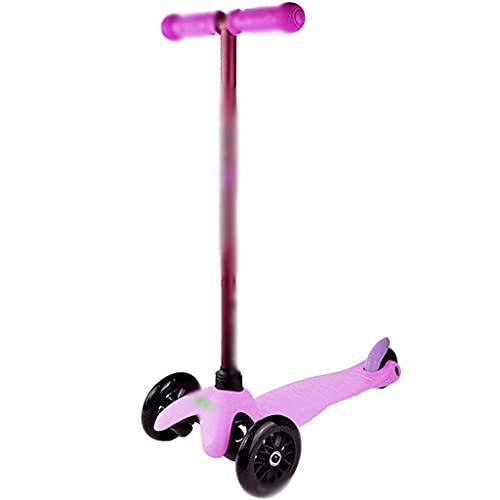 Patinete Patinete De Acrobacia Scooter De Aluminio, Niña Jugando Scooter En El Parque, Scooter Profesional De Fitness Al Aire Libre (Color : Purple, Size : 57 * 37 * 67cm)