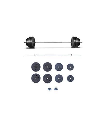 Grupo K-2 Riscko | Juego de Pesas Barra Recta y Discos 60 KG | Unisex | Entrenamiento de Fitness | E