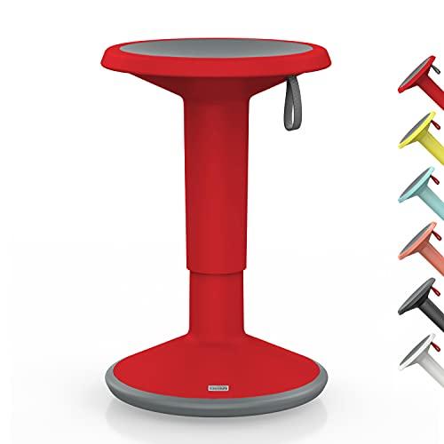 Interstuhl UPis1 – ergonomischer Sitzhocker mit Schwingeffekt – für einen geraden Rücken Made in Germany – inkl. 10 Jahren Garantie (Rot, Standard Edition)