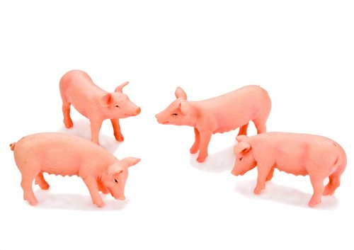 Kidsglobe 571905 - Farm Animal Schwein-Set, 4 Stück