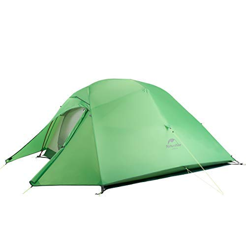 Naturehike Cloud-Up 1, 2 and 3 Person Lightweight Backpacking Tent with Footprint - 210T 3 Season Free Standing Dome Camping Hiking Waterproof...