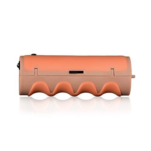 gripONE Ivory Peach - der clevere Tragegriff für Einkaufstaschen, Tüten, Farbeimer und mehr, mit integrierter LED-Taschenlampe und Einkaufswagenchip